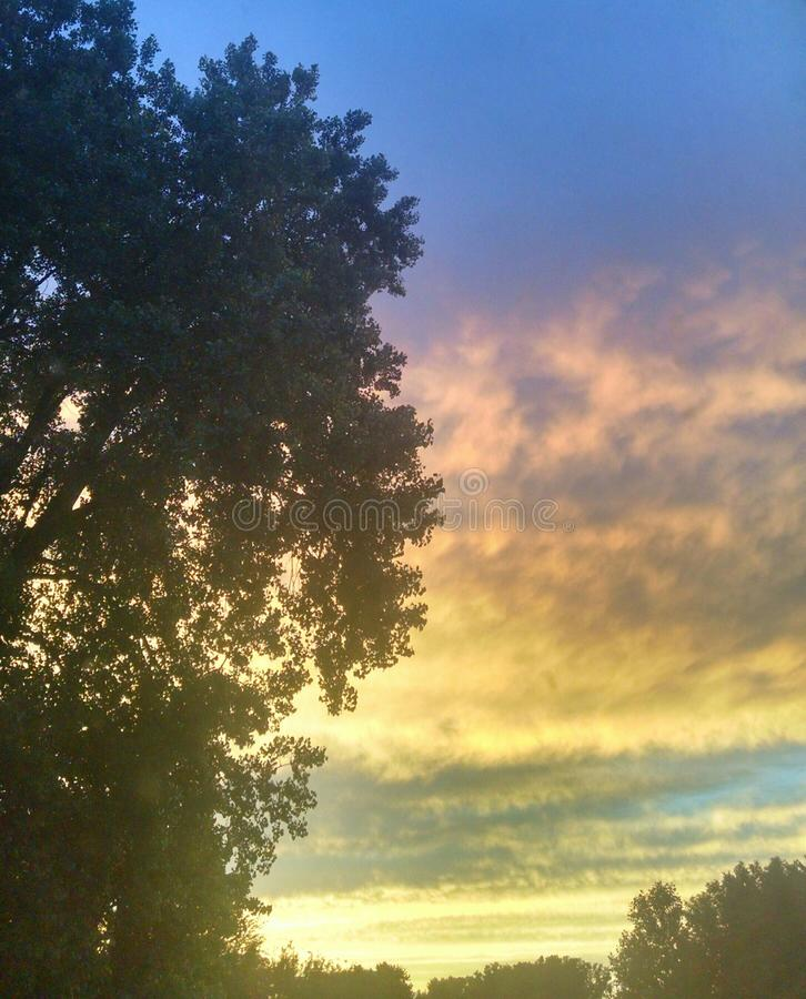 Hemel bij zonsondergang royalty-vrije stock foto's