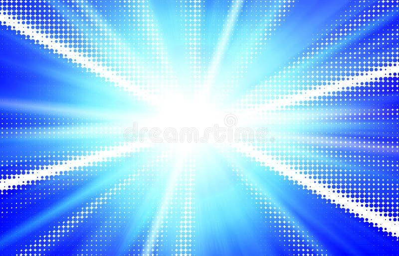 Hemel - Blauwe stralenillustratie vector illustratie