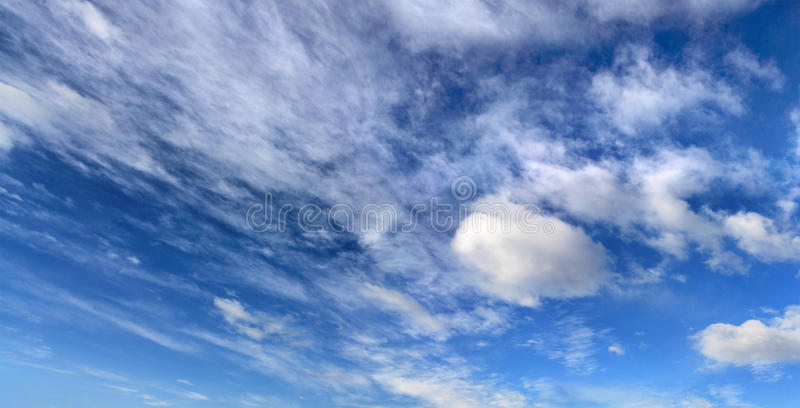 Hemel en clouds2 stock afbeelding