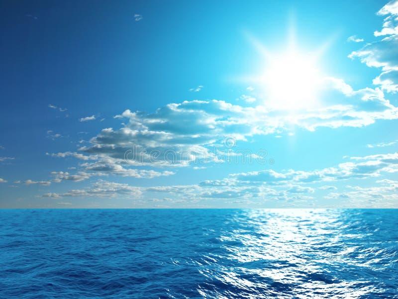 Hemel en oceaan stock fotografie