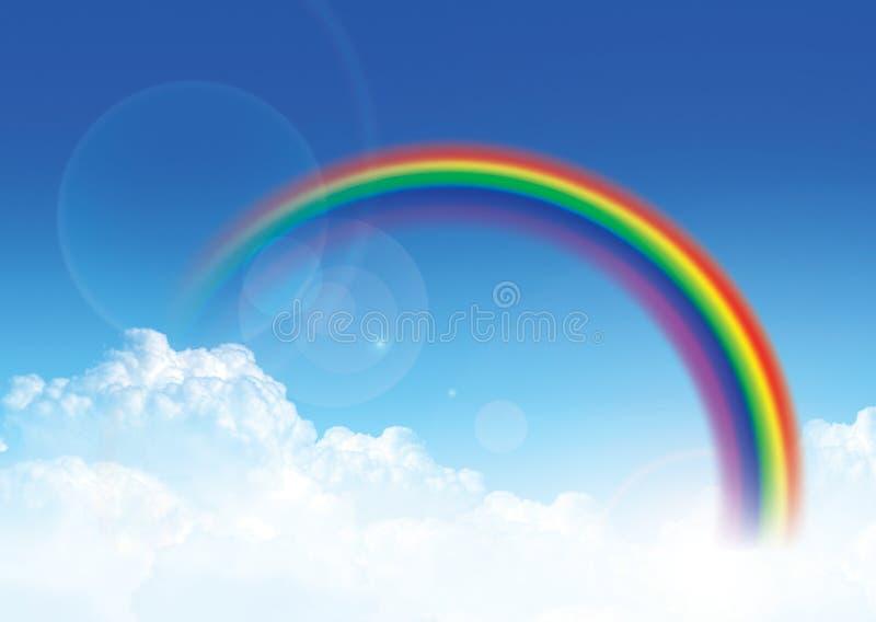 Hemel en regenboog royalty-vrije stock fotografie