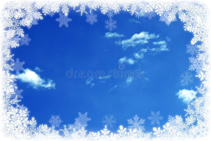 Hemel en Sneeuwvlokken stock afbeelding