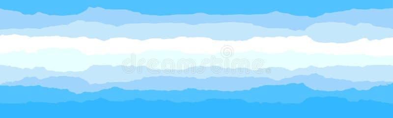 Hemel en wolkenachtergrond Modieus ontwerp met een vlakke affiche, vliegers, prentbriefkaaren, Webbanners royalty-vrije illustratie
