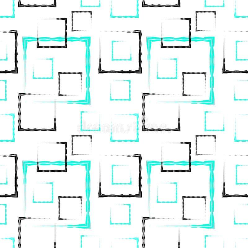 Hemel en zwarte gesneden vierkanten en kaders voor een abstract wit achtergrond of een patroon stock illustratie