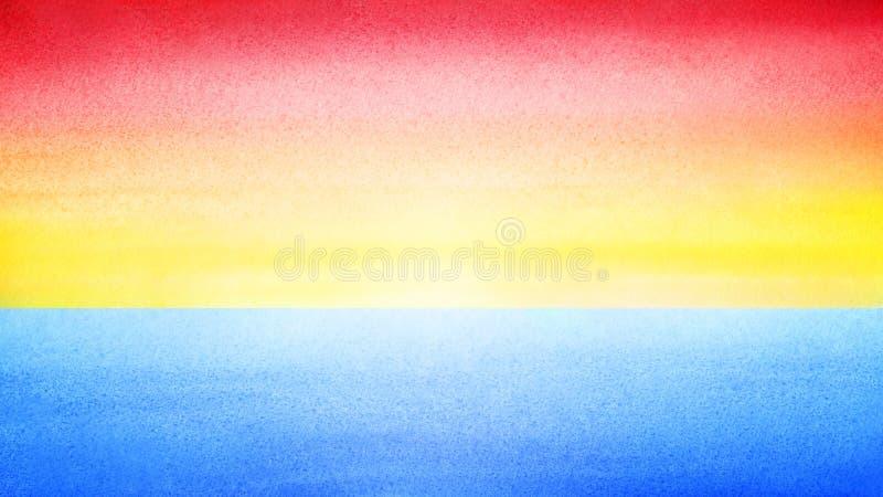 Hemel heldere kleurrijke horizontale banner Zonsopgang of overzeese zonsondergang vage achtergrond Ochtend of avondoverzees en he royalty-vrije illustratie