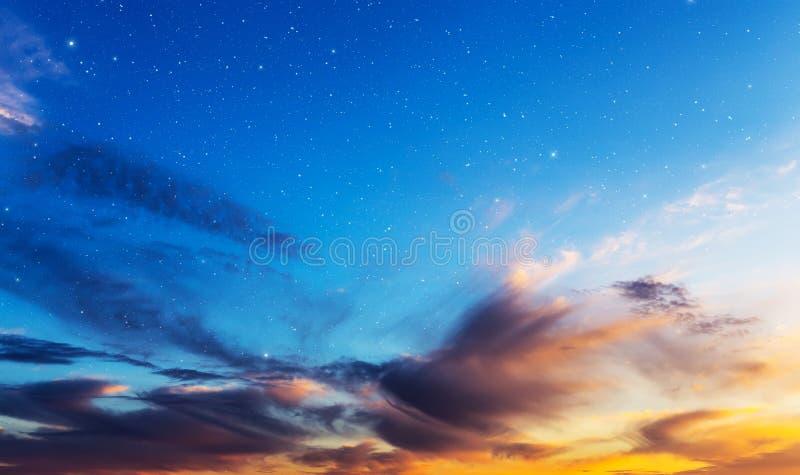 Hemel met sterren. stock foto's