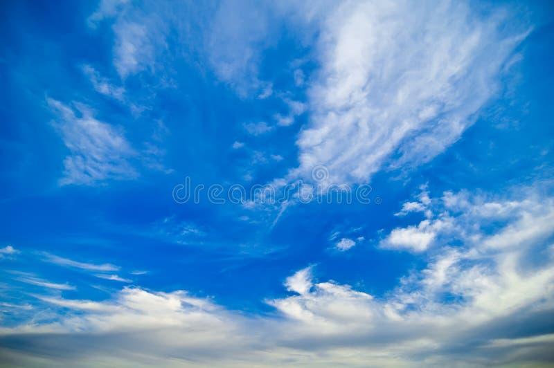 Hemel met wolken royalty-vrije stock fotografie