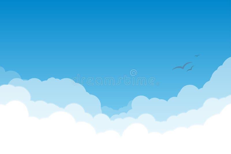 Hemel met wolken royalty-vrije illustratie