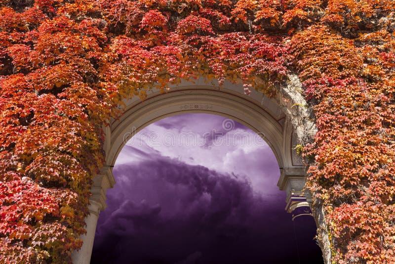 Hemel met zware onweerswolken royalty-vrije stock foto's