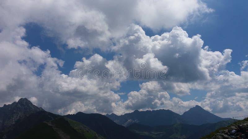 Hemel over Tatra royalty-vrije stock fotografie