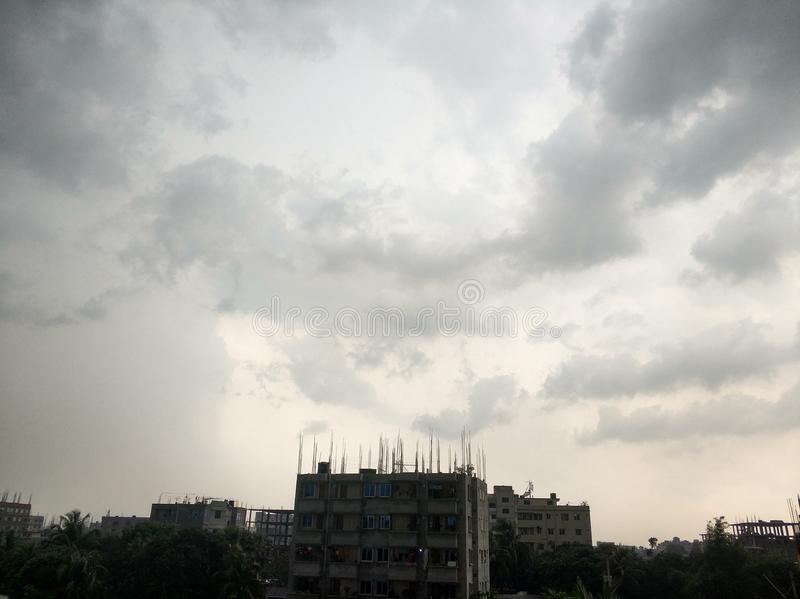 hemel vóór regen stock afbeelding
