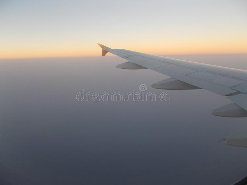 hemel van vliegtuigen royalty-vrije stock afbeelding