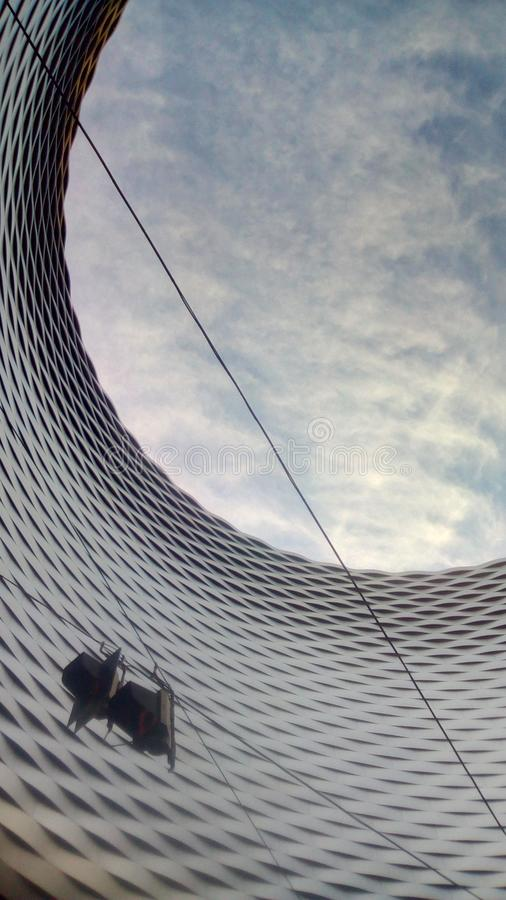 Hemelleegte - Messe Bazel stock fotografie