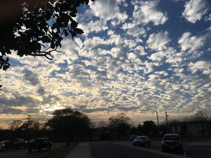 Hemelmiddag mooi San Antonio royalty-vrije stock foto's