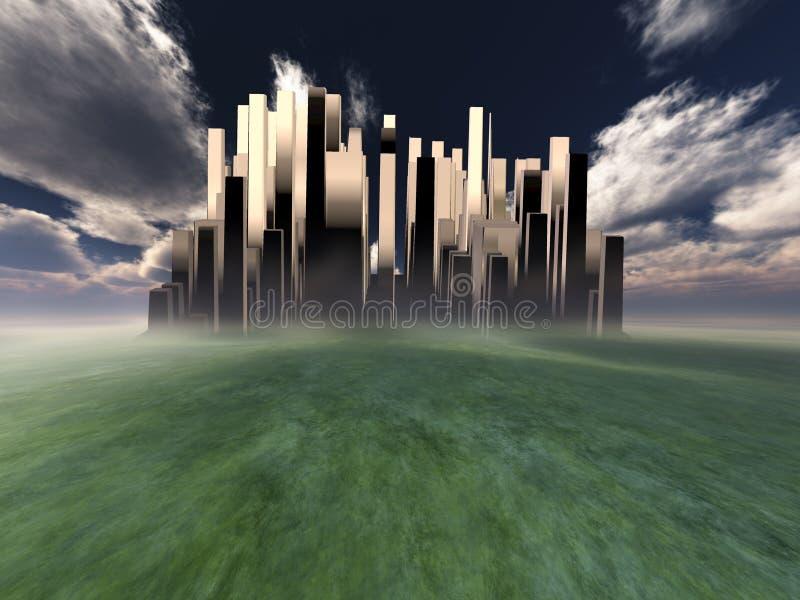 Hemelse Stad vector illustratie