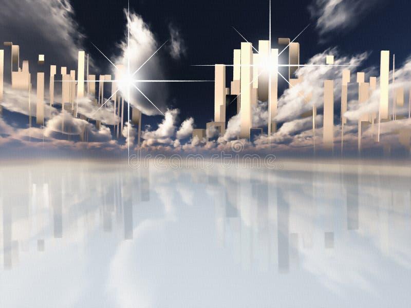 Hemelse Stad stock illustratie