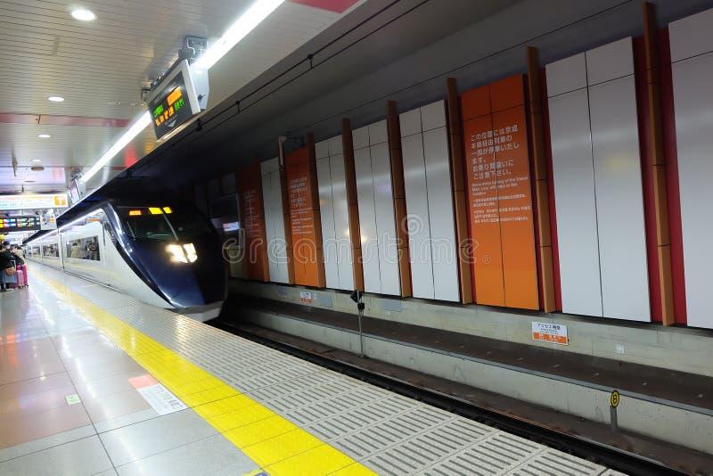 Hemelvoering, het openbare vervoer van Japan in Narita Internationale Luchthaven stock afbeelding