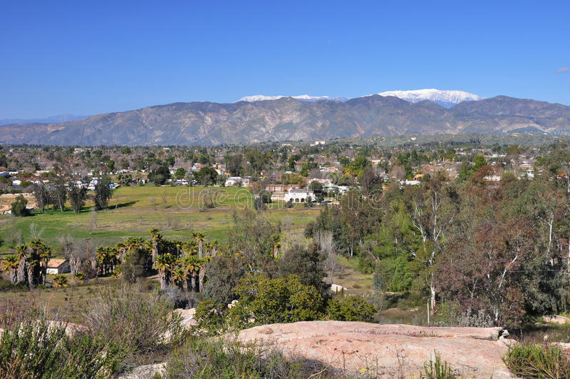 Hemet and San Jacinto. The towns of Hemet and San Jacinto run together in Southern California royalty free stock photos