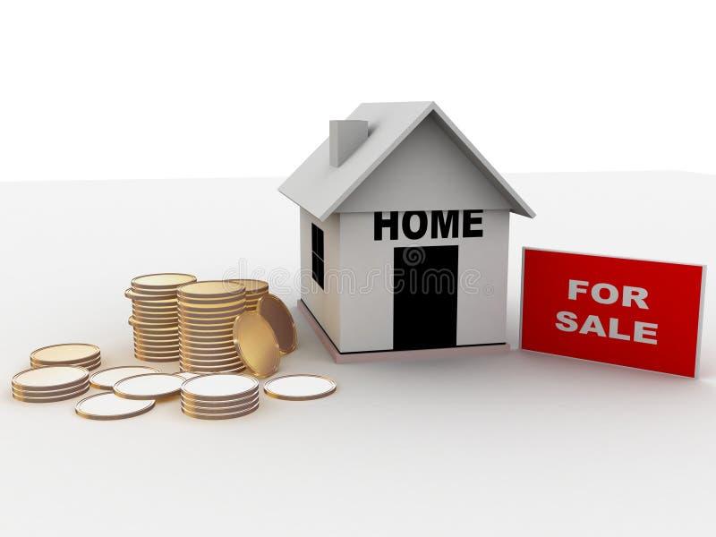 hemförsäljning vektor illustrationer