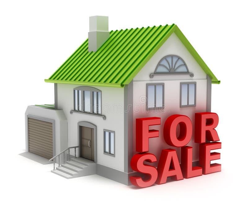hemförsäljning royaltyfri illustrationer