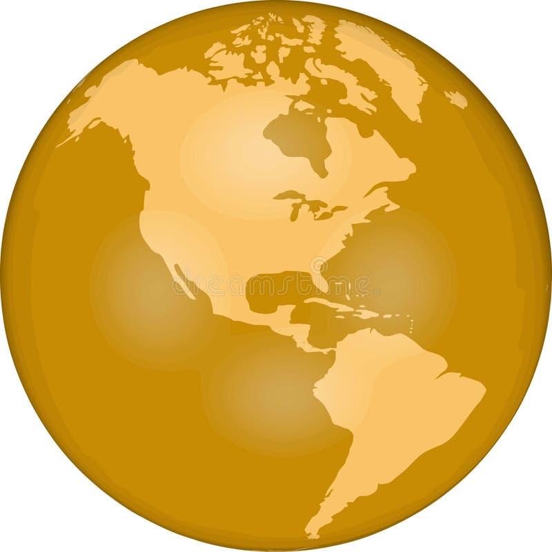 hemi globu zachód royalty ilustracja