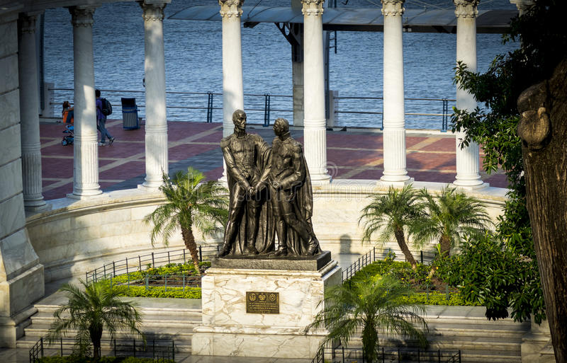 Hemiciclo of La Rotonda in Guayaquil royalty free stock photo