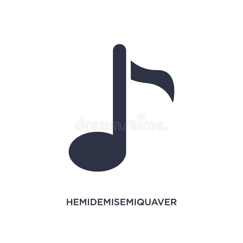hemidemisemiquaver pictogram op witte achtergrond Eenvoudige elementenillustratie van muziek en media concept vector illustratie