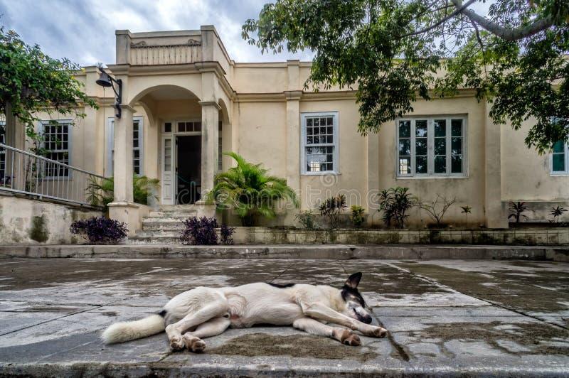 Hemingsways hus i san Francisca, Kuba royaltyfri foto