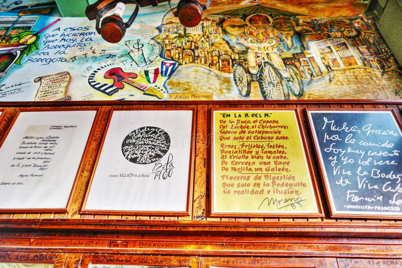 Hemingway и mojito в Гаване, Кубе стоковые изображения rf
