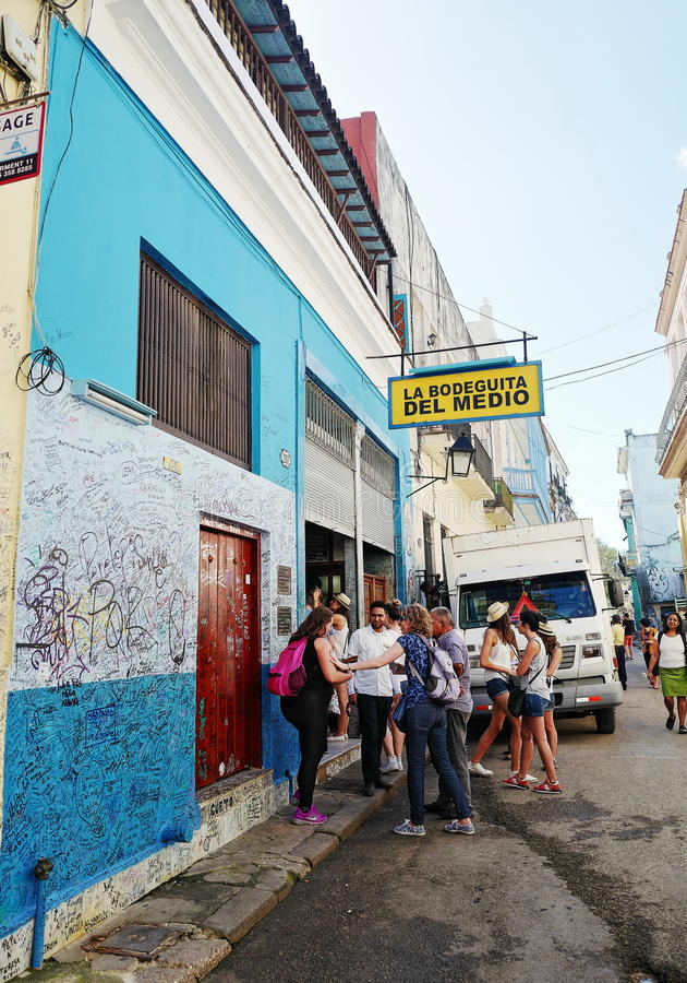 Hemingway e mojito a Avana, Cuba fotografie stock libere da diritti