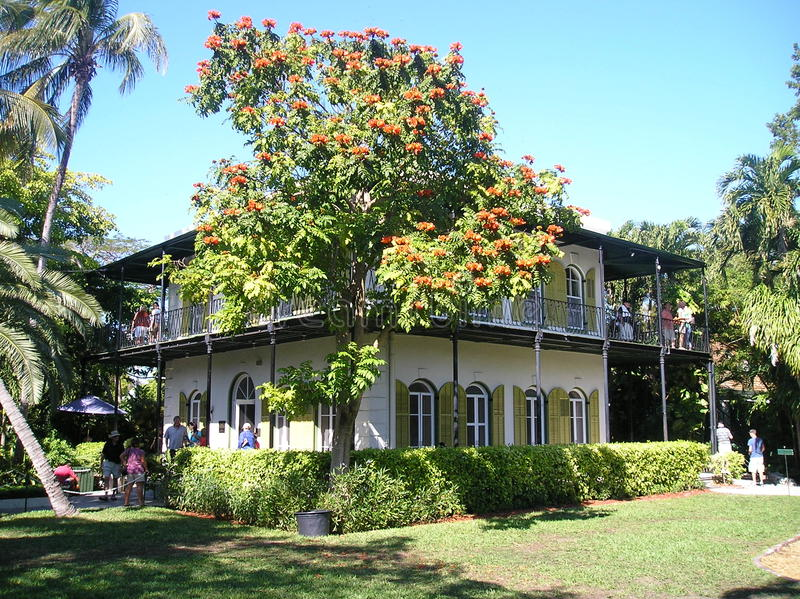 Hemingway house key west. The house of ernest hemingway at key west in florida.january 2009 royalty free stock images
