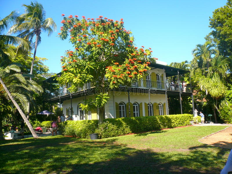 Hemingway house key west. The house of ernest hemingway at key west in florida.january 2009 stock photos