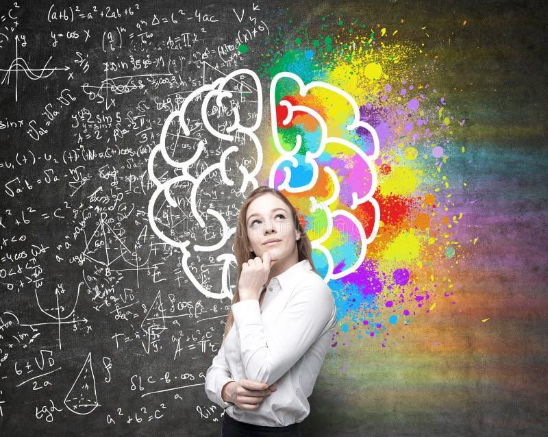 Hemisférios diferentes do cérebro ilustração stock