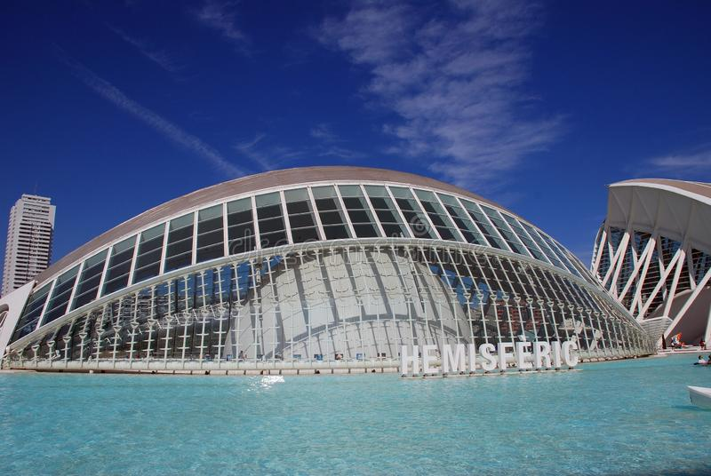 Hemisferic building in Valencia royalty free stock images
