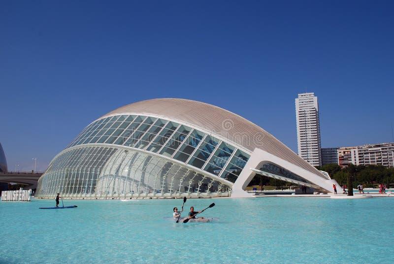 Hemisferic building, Valencia royalty free stock image