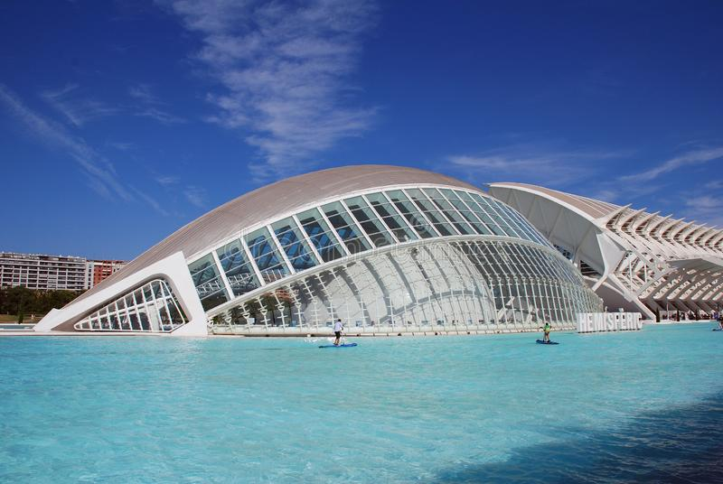 The Hemisferic building in Valencia royalty free stock photography