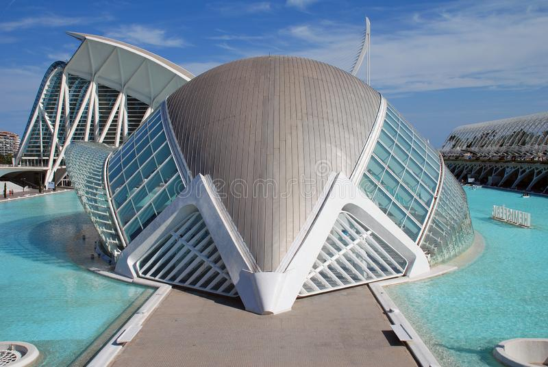 The Hemisferic building, Valencia royalty free stock images