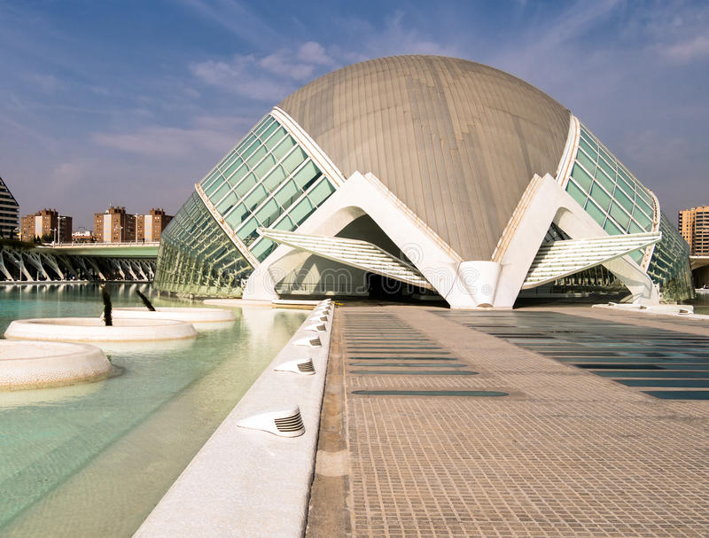 Hemisferic, City of Arts and Sciences, Valencia royalty free stock photography