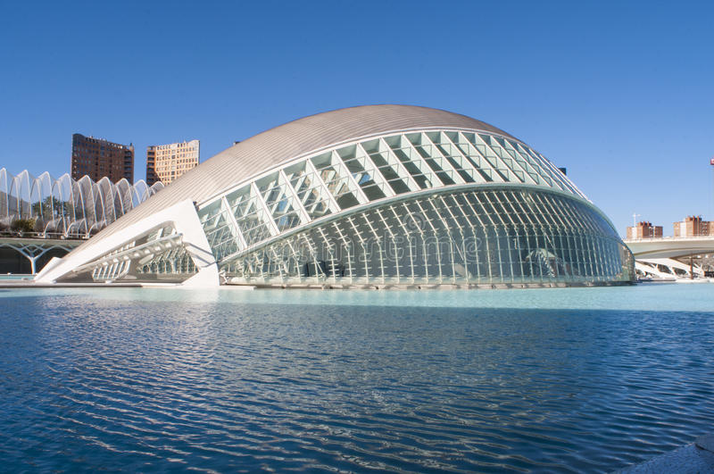 Hemisferic in the city of Arts and Sciences, Valencia stock images