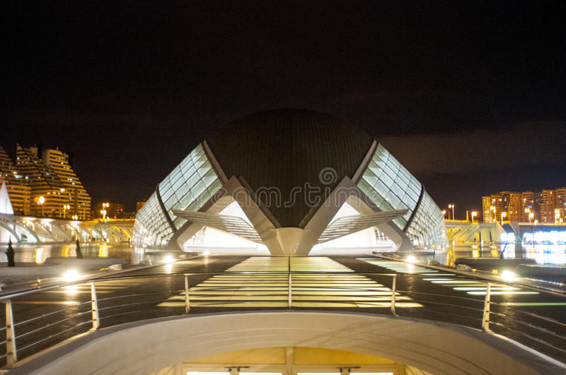 Hemisferic in the city of Arts and Sciences, Valencia stock photo