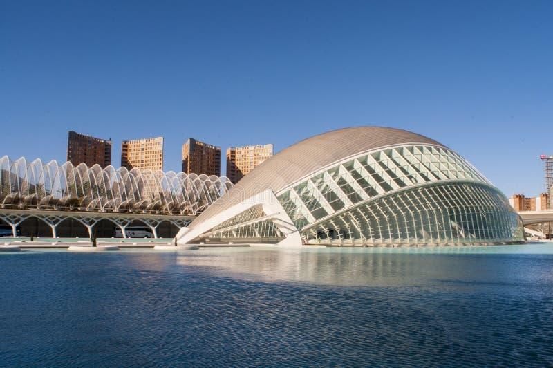 Hemisferic in der Stadt von Künsten und von Wissenschaften, Valencia lizenzfreie stockfotografie