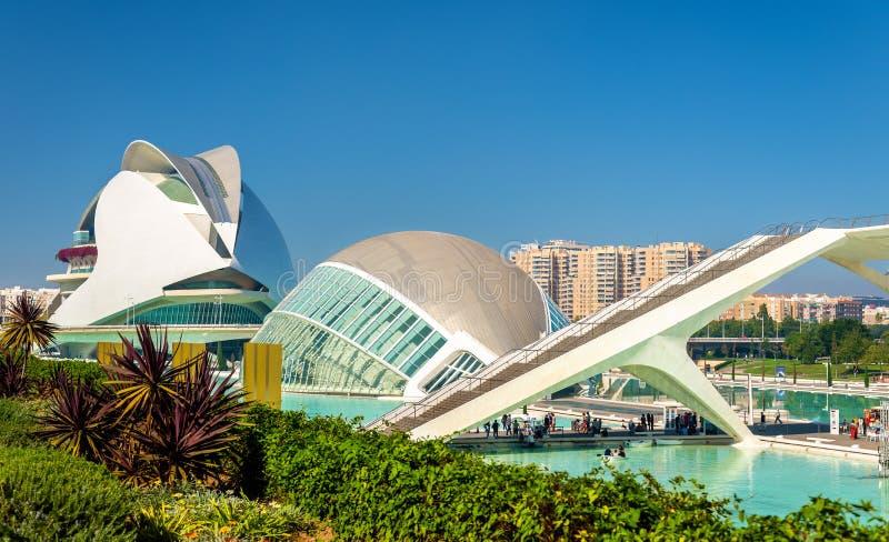 Hemisferic in der Stadt von Künsten und von Wissenschaften - Valencia, Spanien stockfotografie