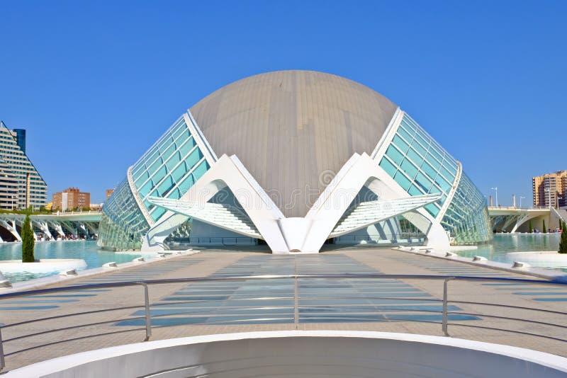 Hemisferic planetarium i IMAX kino, Walencja, Hiszpania fotografia royalty free