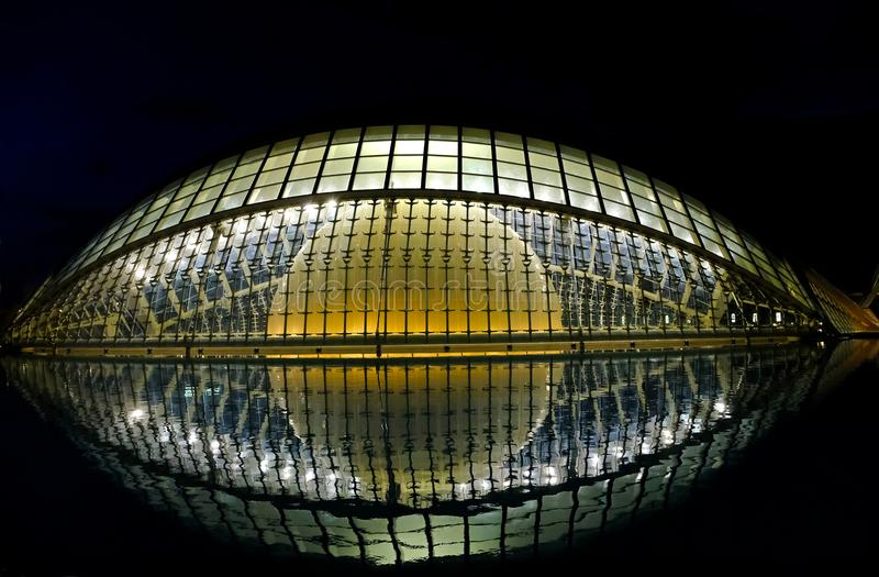 Hemisferic 's nachts, Valencia royalty-vrije stock foto
