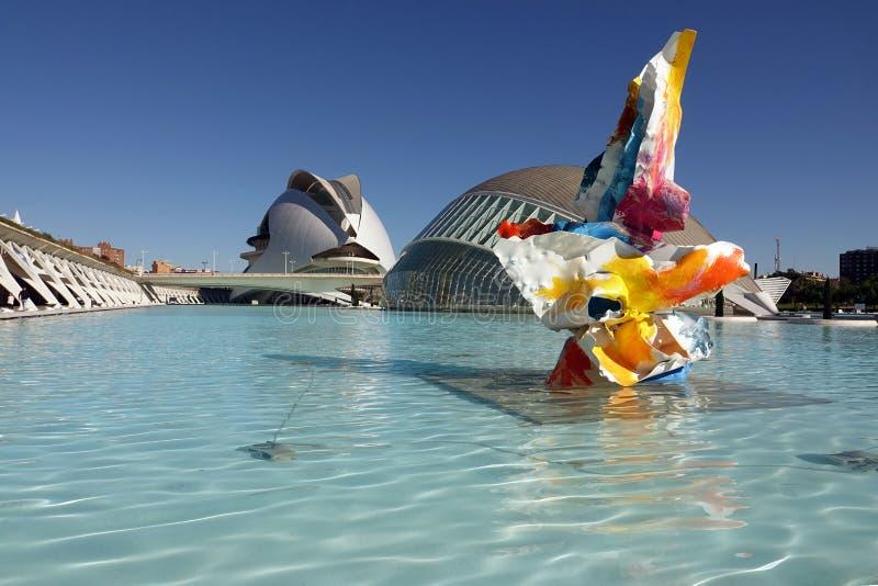 Hemisferic in stad van kunsten en wetenschappen in Valencia, Spanje royalty-vrije stock foto's