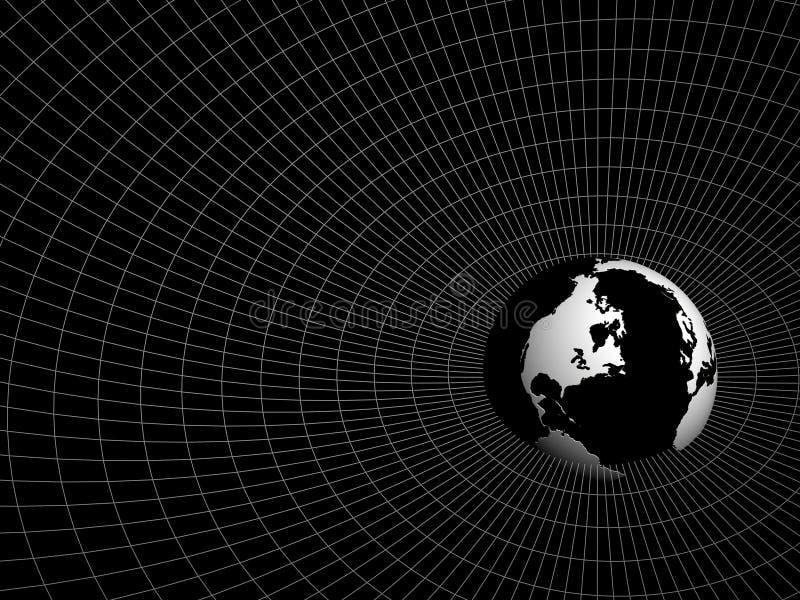 Hemisphere of earth royalty free illustration