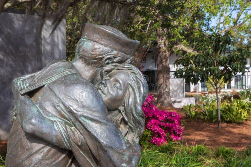 Hemkomststaty Charleston South Carolina arkivbild