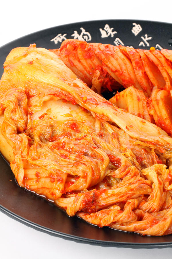 Hemlagad kimchi, koreansk mat 免版税库存照片