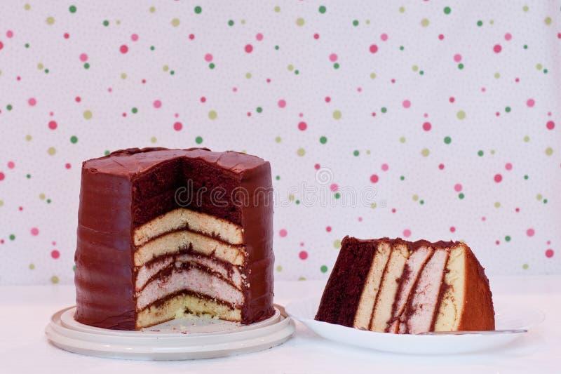 hemlagad lagerskiva för 7 cake royaltyfri bild