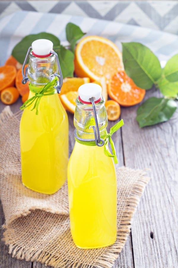 Hemlagad orange likör royaltyfri bild
